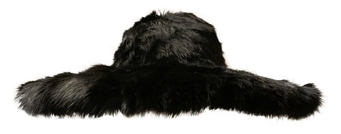 Fur floppy hat