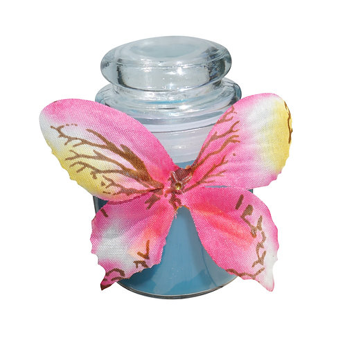 Blue Butterfly Candle