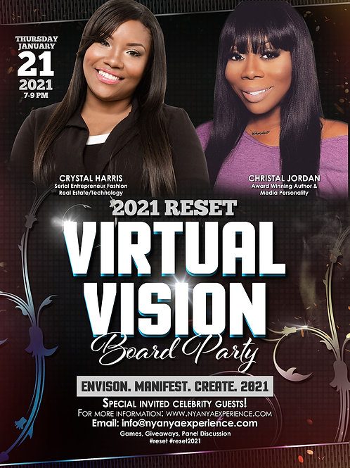 THE CELEBRITY 2021 RESET VIRTUAL VISION BOARD PARTY