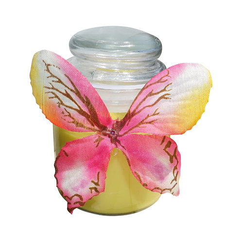 Green Butterfly Candle