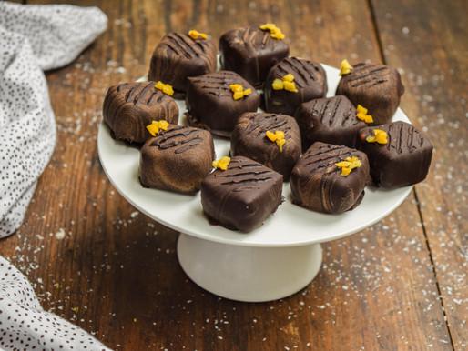 Coconut mango truffles