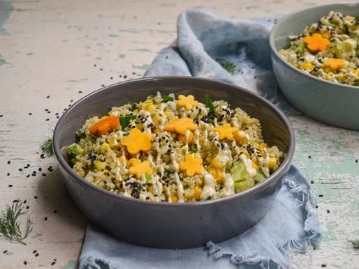 Quinoa salad with dried mango