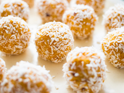 Dried mango and coconut energy bites