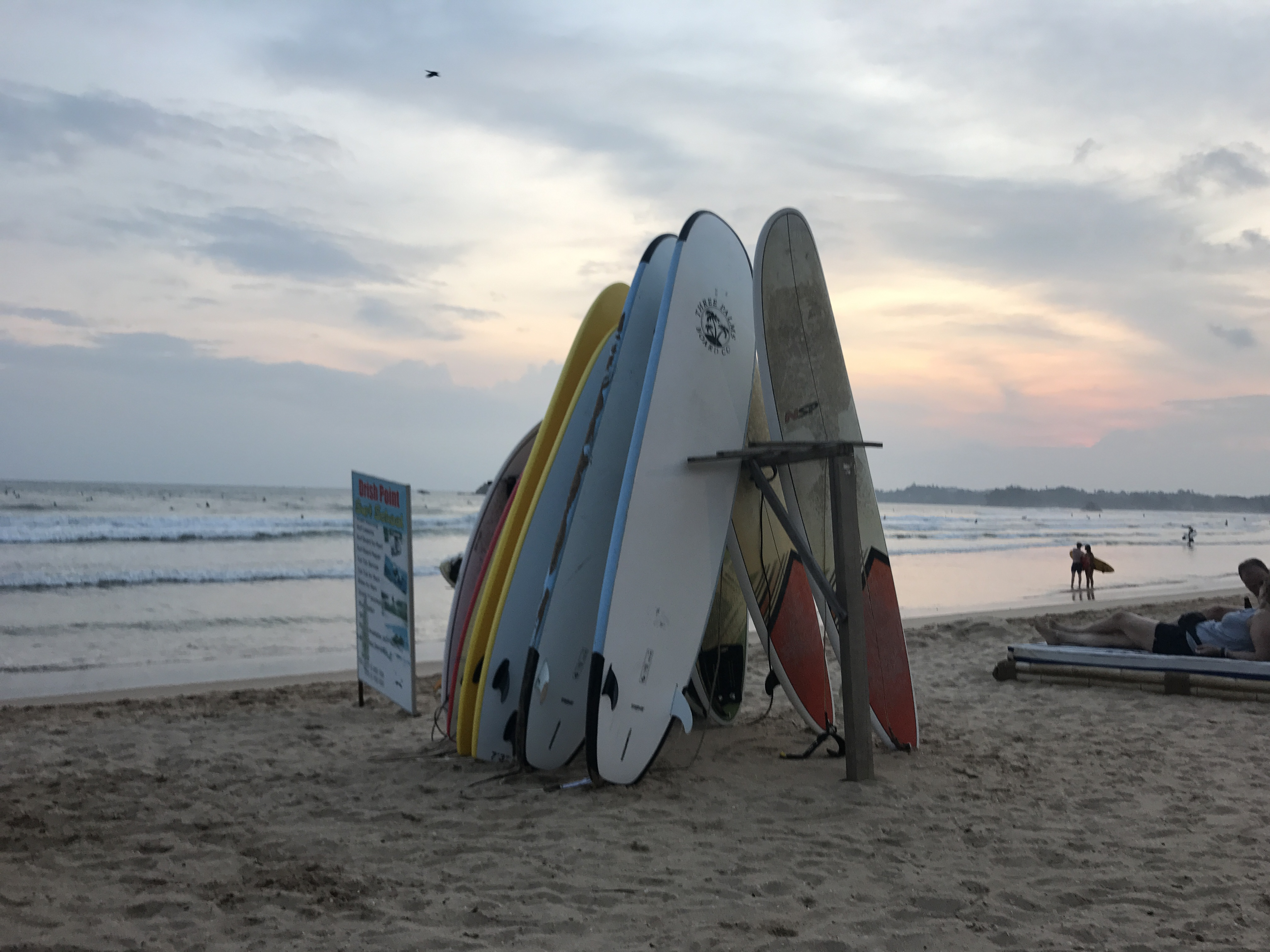 Sunset Surfing in Weligama