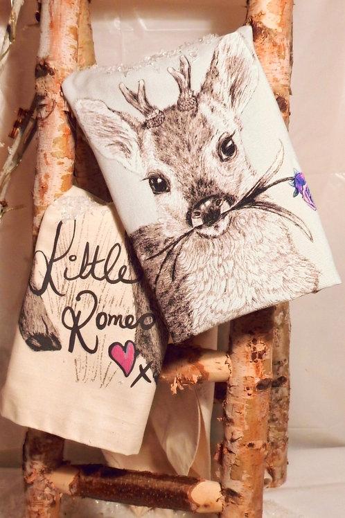 Little Romeo Hand Drawn Tea Towel