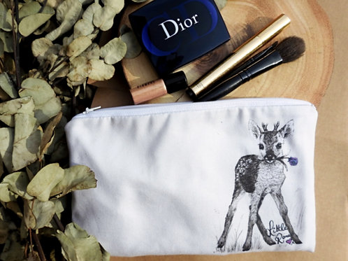 Little Romeo deer cosmetic/zip pouch