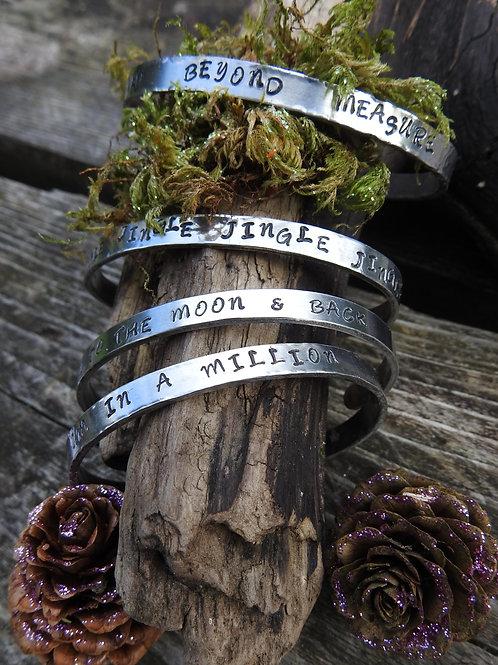 Aluminium Message Bracelets