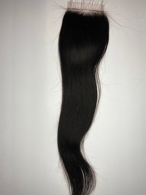 Straight  Transparent Closure 18""