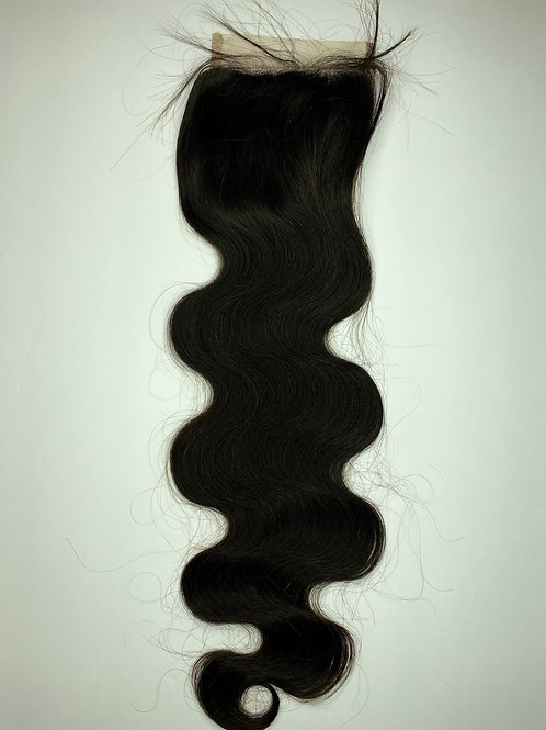 Body Wave Transparent  Closure 20""