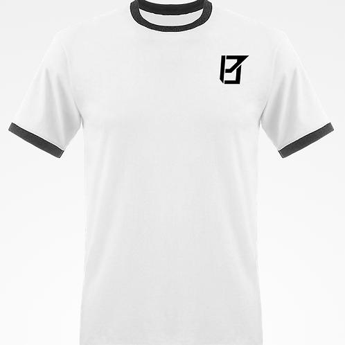 T-shirt Bords Contrastés Blanc/Noir