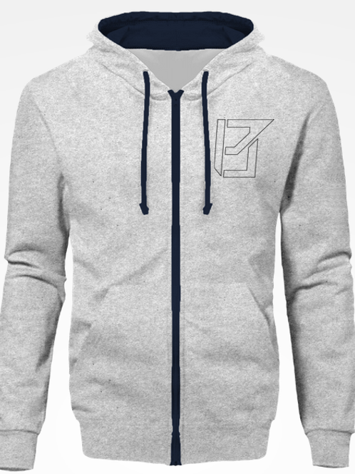 Sweat Zipp Gris / Bleu