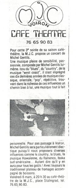 Concert à VOIRON, Isère