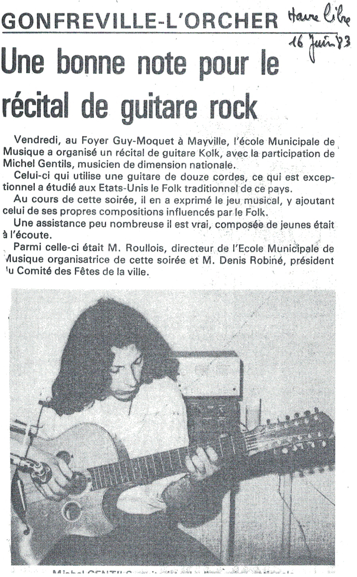 Le Havre Libre, une guitare folk qui passe du Rock au Folk