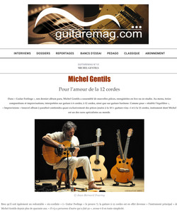 Max ROBIN dans guitaremag.com sur le CD « GUIAR FEELINGS »