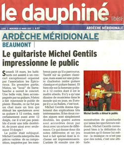 Le guitariste Michel Gentils impressionne le public