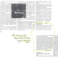 En ANGLETERRE, Martin HUDSON dans The Journal of Classic Rock Society, sur le CD « Live à l''Ouest d