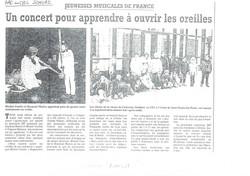 « L'Arc en Ciel Sonore », tournée en BELGIQUE
