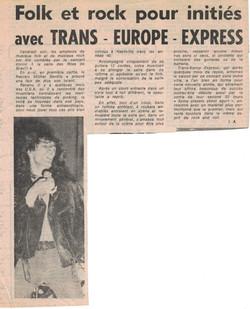 Le Havre avec Trans Europe Express