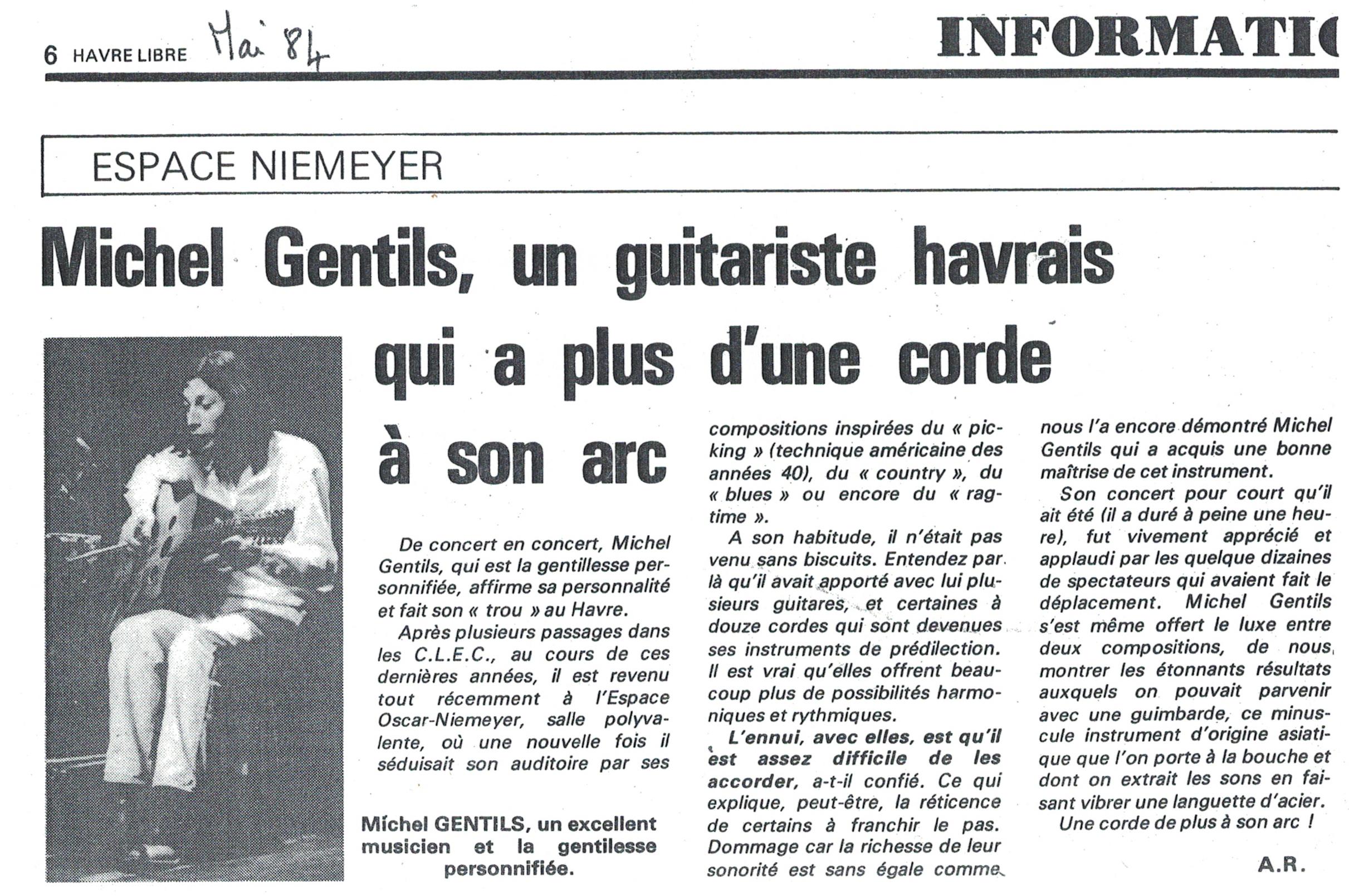 Le Havre Libre, Concert à la Maison de la Culture du Havre