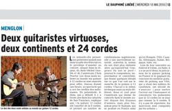 Tournée en France - ici dans la Drôme -  avec le guitariste 12 cordes américain Chris PROCTOR
