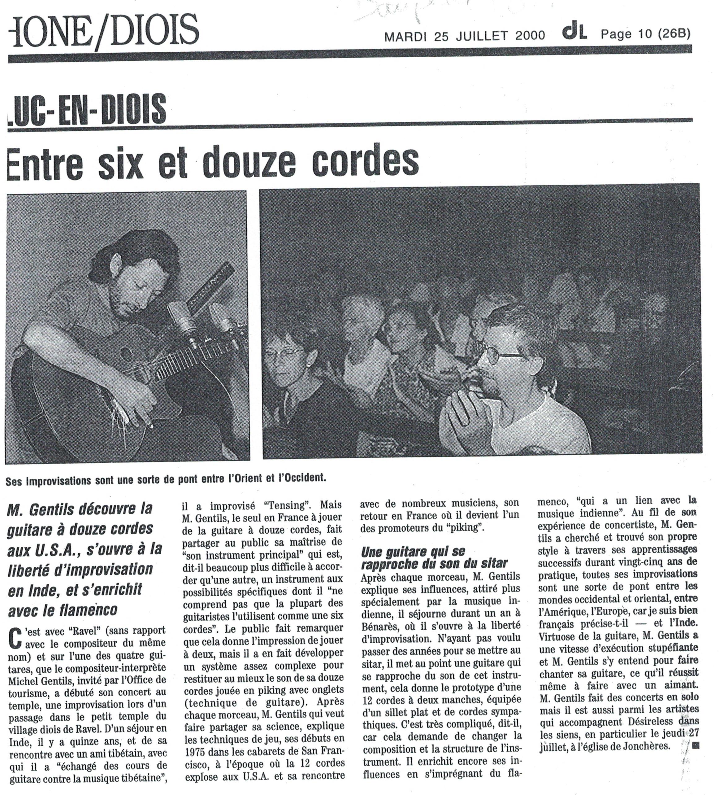 Le Dauphiné Libéré, Concert en Eglise
