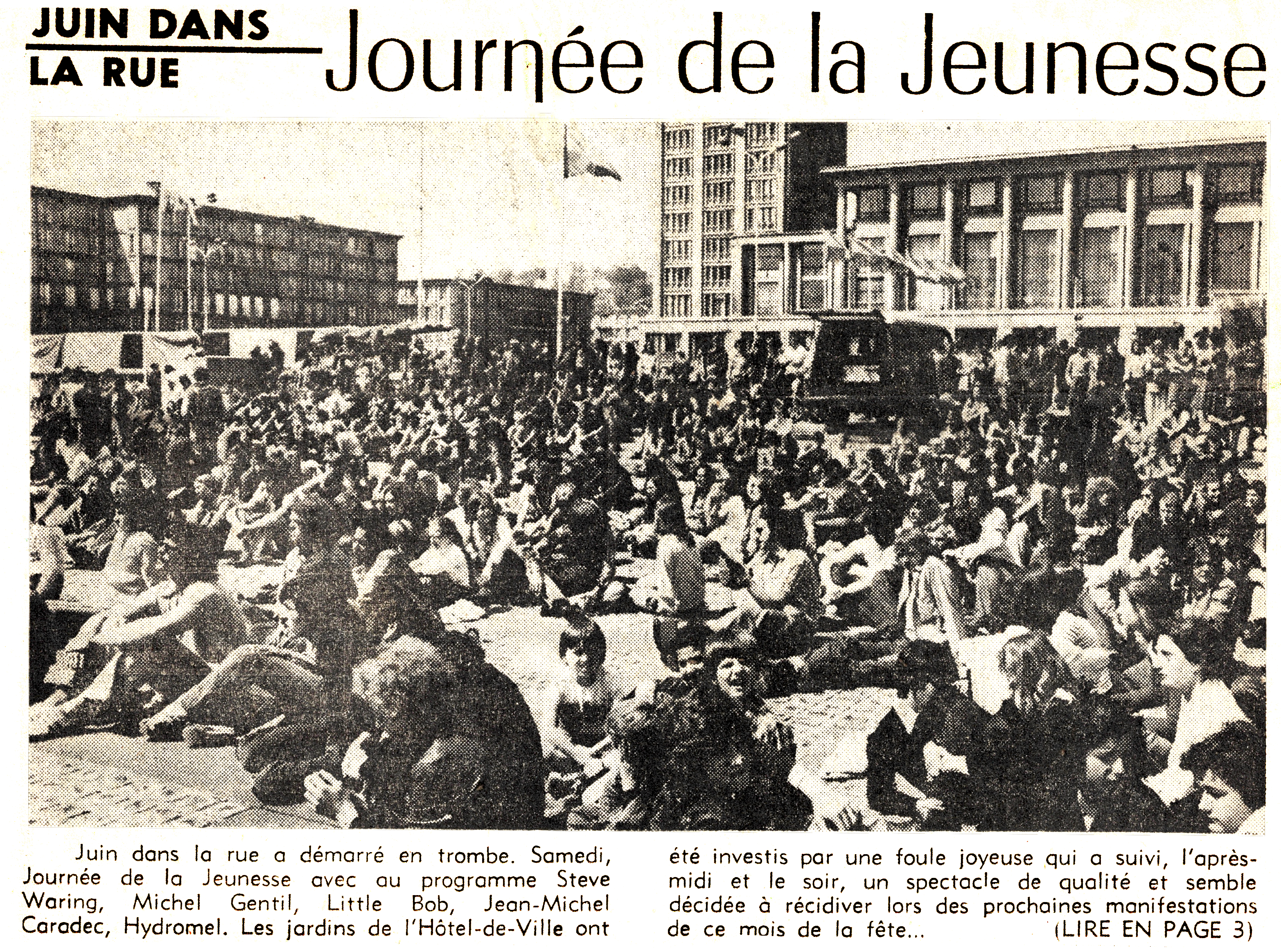 Juin dans la rue - Journée de la Jeunesse