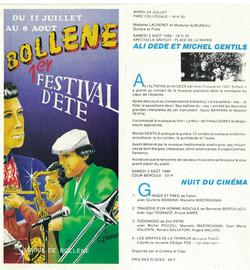 Festival à BOLLENNE, Drôme, avec Ali Dédé ALTINTAS