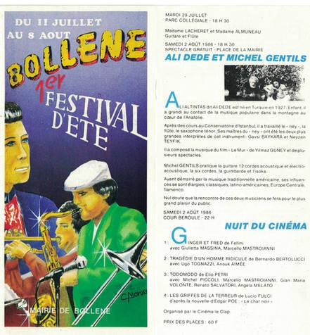 1986 En duo avec ALI DEDE