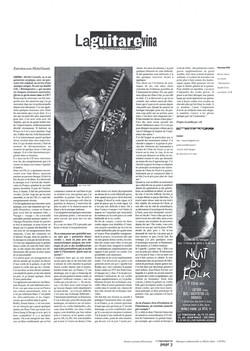 Publication du Centre des Musiques Traditionnelles (CMTRA) sur la Guitare-Vina de Michel Gentils