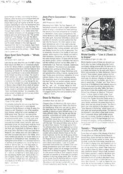 Aux ETATS-UNIS, Jeff MILTON dans la revue EXPOSE, sur le CD « Live à l'Ouest de la Grosne »
