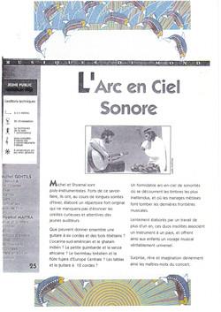 """""""L'Arc en ciel sonore"""""""