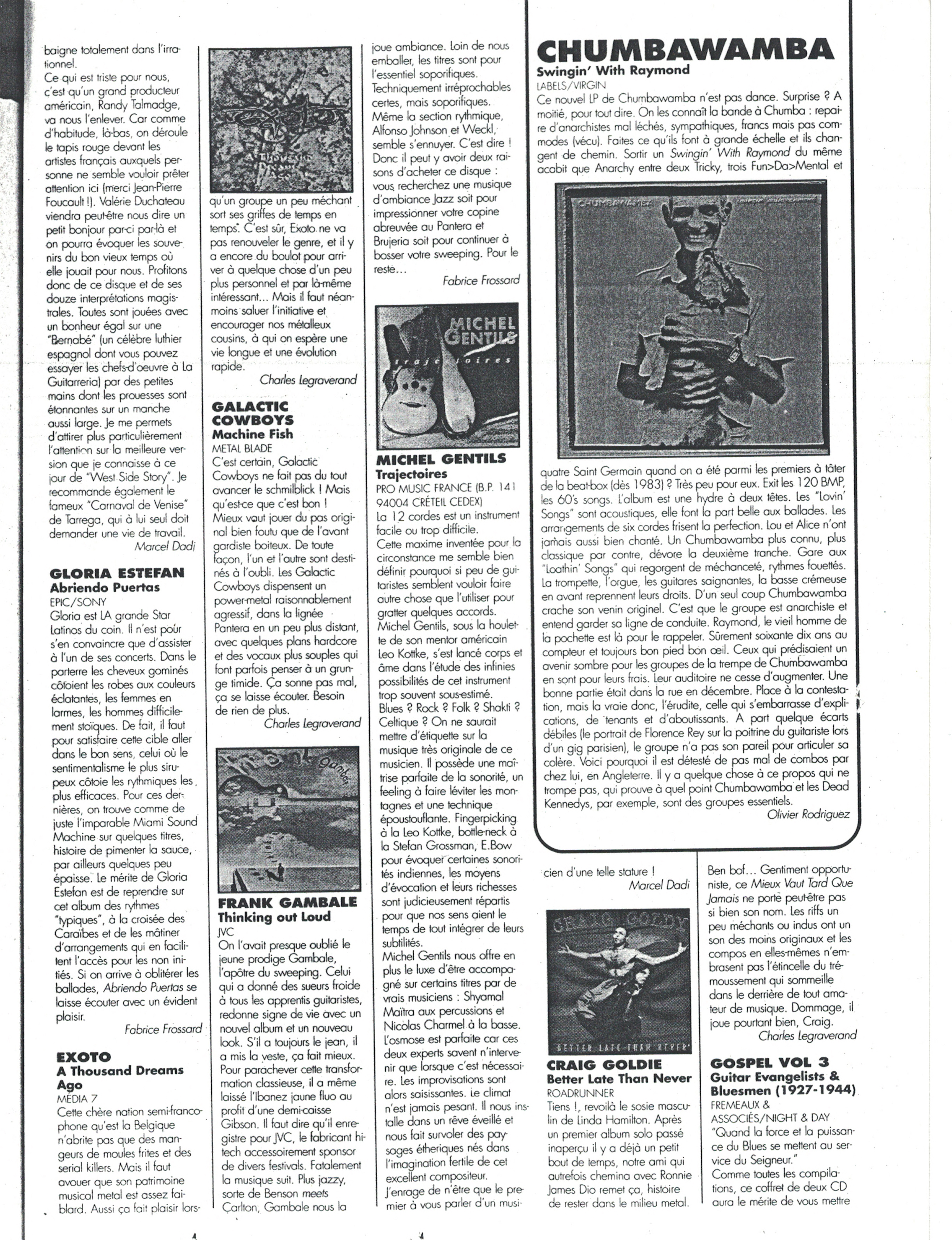 Marcel DADI dans Guitares Planètes sur le CD Trajectoires