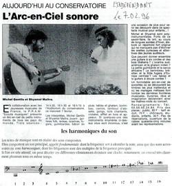 L'Indépendant: « L'Arc en ciel sonore » au Conservatoire de PERPIGNAN