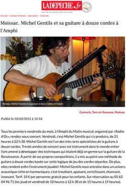 La Dépêche, Concert à MOISSAC