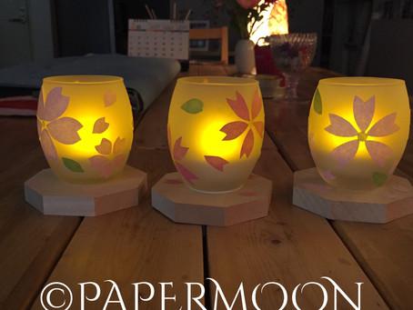 さくらの灯り 教室風景  | 手作りライト照明教室 PAPERMOON(東京 自由が丘)