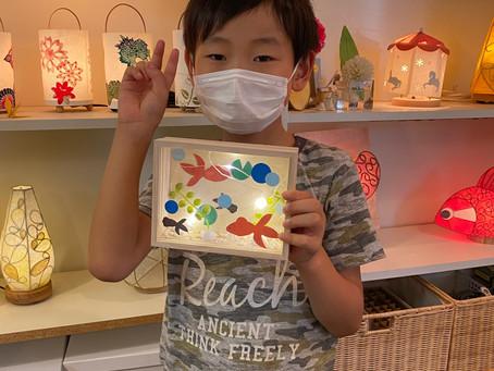 夏休み子どもあかり塾2020 無事終了! | 手作りライト照明教室 PAPERMOON(東京 自由が丘)