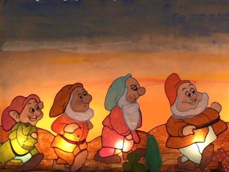 【生徒作品】七人の小人のあかり | 手作りライト照明教室 PAPERMOON(東京 自由が丘)