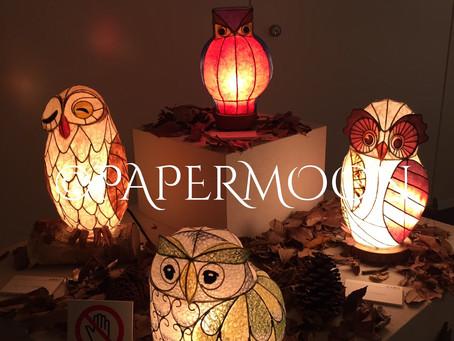 御礼 和紙の灯り展 | 手作りライト照明教室 PAPERMOON(東京 自由が丘)