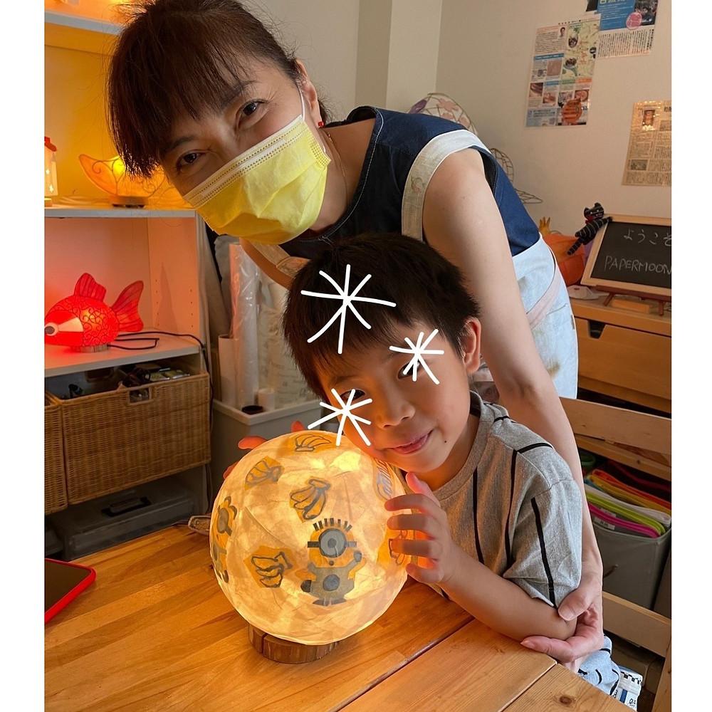 夏休み子どもあかり塾 手作りあかり教室 PaperMoon(東京 自由が丘)