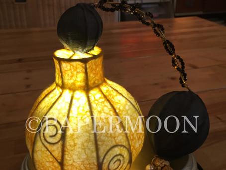 香水瓶のランプ   手作りライト照明教室 PAPERMOON(東京 自由が丘)