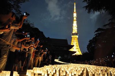 増上寺 七夕まつり | 手作りライト照明教室 PAPERMOON(東京 自由が丘)