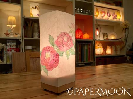 【お知らせ】教室用新作ライト!和紙あんどん(華)| 手作りライト照明教室 PAPERMOON(東京 自由が丘)