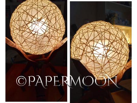 コットンボールでインテリア照明 | 手作りライト照明教室 PAPERMOON(東京 自由が丘)