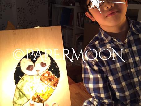 【生徒さん作品】あかり男子部 照明を手作り | 手作りライト照明教室 PAPERMOON(東京 自由が丘)