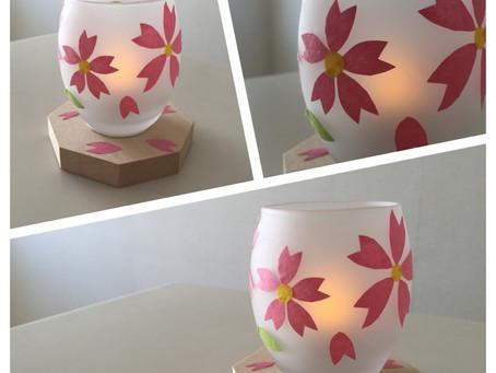 桜のあかり 教室風景  | 手作りライト・照明教室 PAPERMOON(東京 自由が丘)