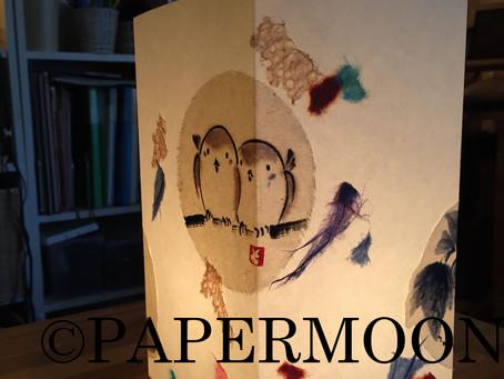 【生徒作品】冬が楽しい和紙あんどん | 手作りライト照明教室 PAPERMOON(東京 自由が丘)