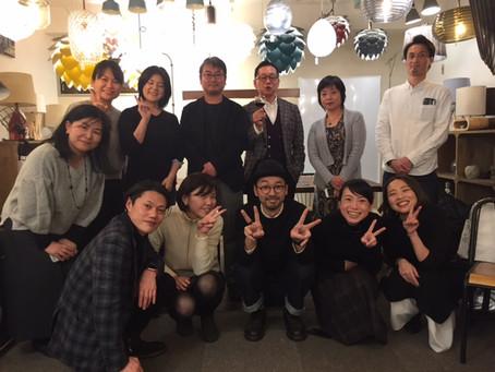 灯りとワインとお料理の会 新年会@エルックス | 手作りライト照明教室 PAPERMOON(東京 自由が丘)