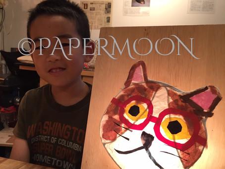 夏休み子どもあかり塾 盛況です! | 手作りライト照明教室 PAPERMOON(東京 自由が丘)