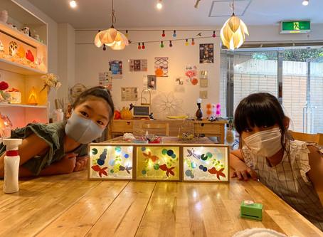 残席僅か!夏休み子どもあかり塾   手作りライト照明教室 PAPERMOON(東京 自由が丘)