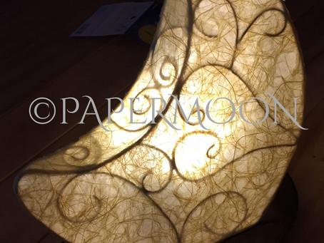 月の和紙あかり | 手作りライト照明教室 PAPERMOON(東京 自由が丘)